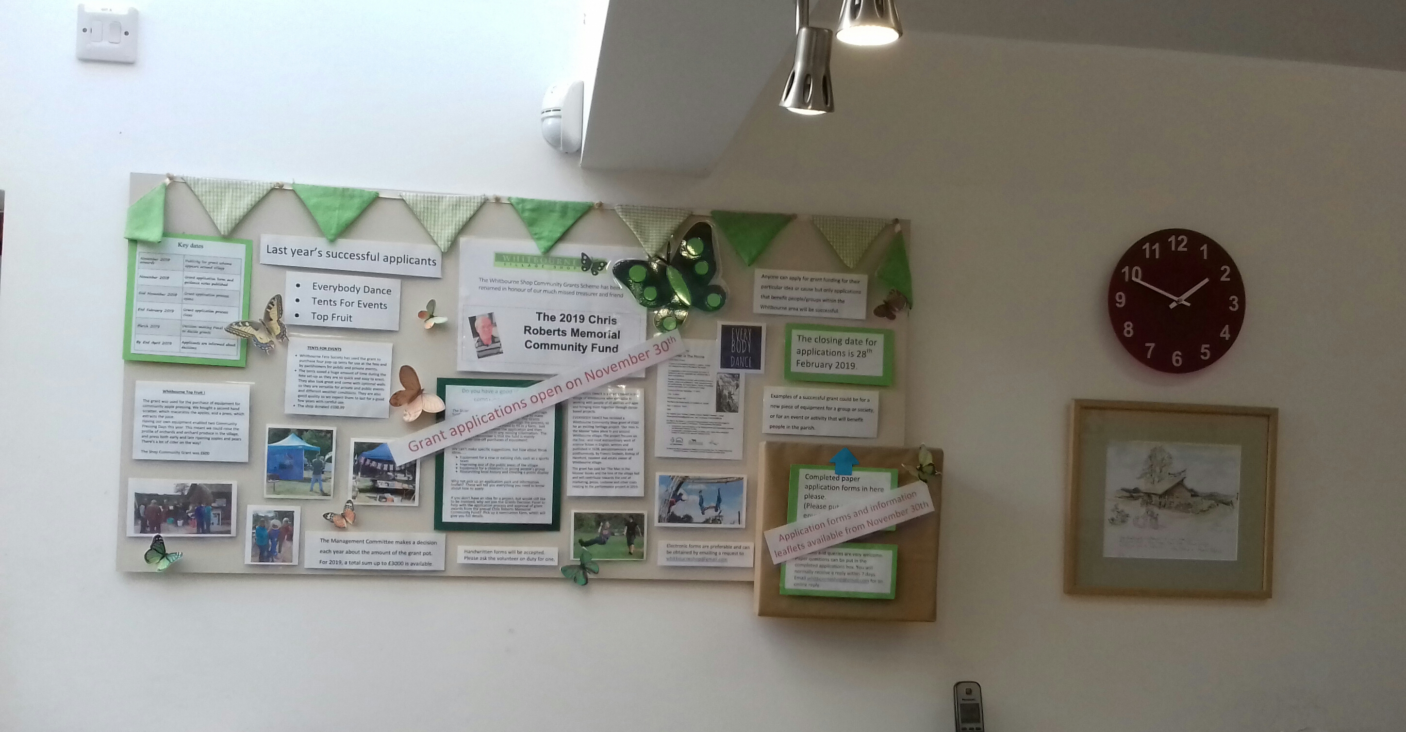 Community Fund display